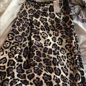 Dresses & Skirts - Never worn animal print skirt